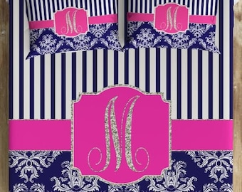 Personalized Bedding, Choose Twin, Full, Queen or King. Personalized Duvet Covers, College Dorm Bedding