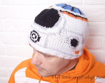 "Star Wars ""The Force awakens"" BB-8 hat knitting pattern. Instant PDF download!"