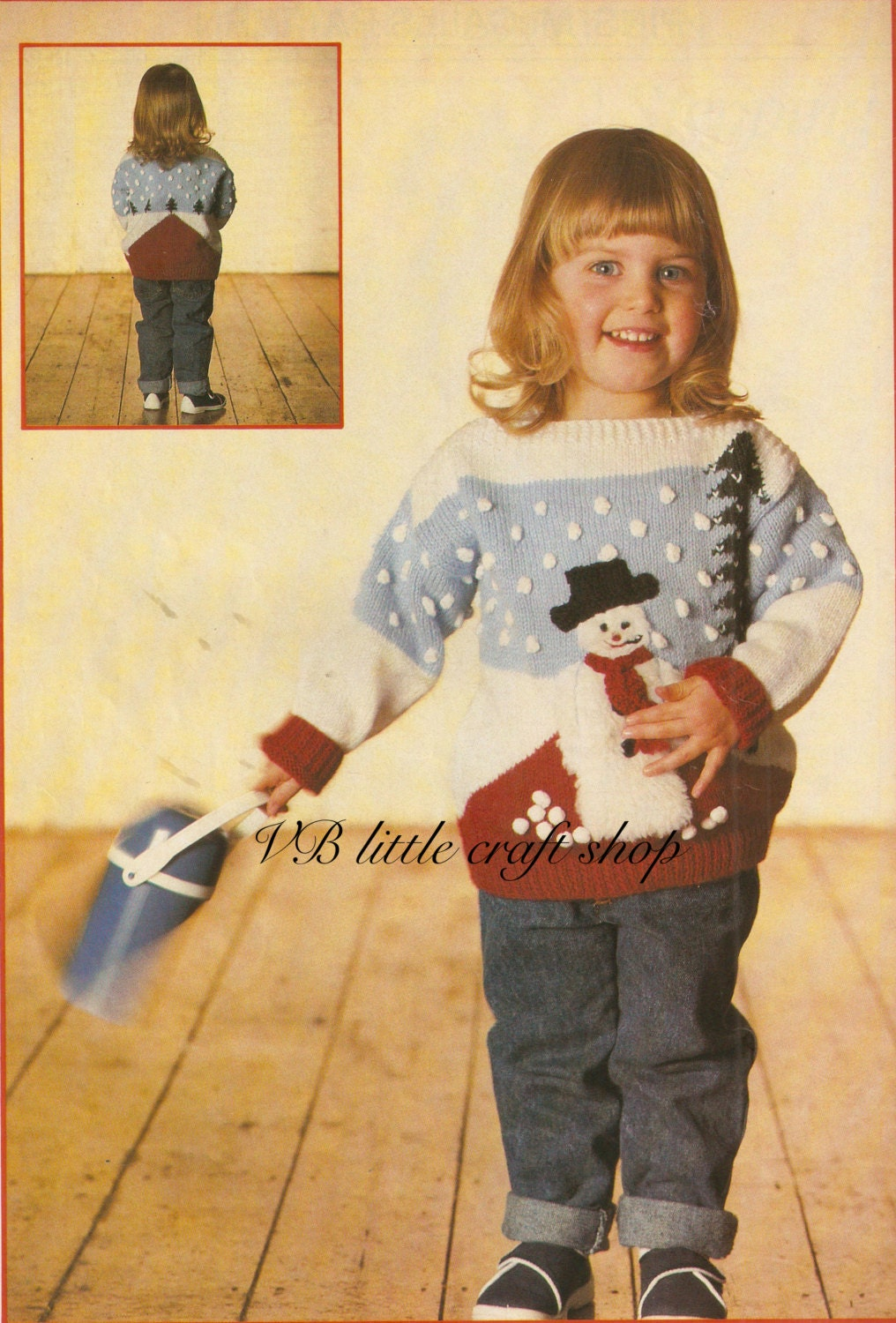 Childs christmas jumper knitting pattern instant pdf zoom bankloansurffo Image collections