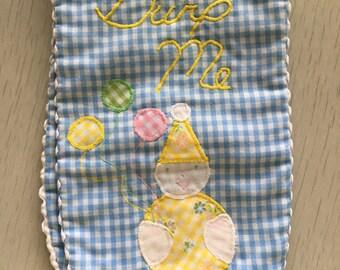 Cute kitschy circus clown burp cloth