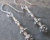 Bohemia ~ Silver Hippie style earrings with TierraCast beads