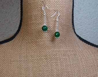 Natural Facated Emerald Gemstone 925 Silver Earrings