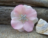 Starfish Hair Clip, ROSE QUARTZ,Beach Weddings, Starfish Hair, Flower Hair, Destination Wedding, Floral Hair Clip, Bridesmaid Hair Flower