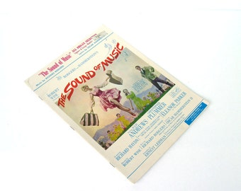 The Sound of Music Organ Music Booklet, Vintage Sound of Music, Rodgers and Hammersteins Sound of Music