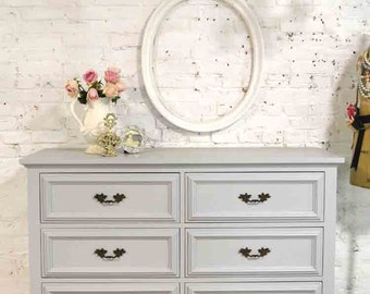 Painted Cottage Chic Shabby Romantic French Chest / Dresser