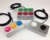 USB Button - Multi-button controller box - Select Colors - Go button - Arcade style
