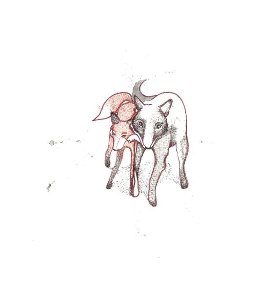 minimalist watercolor print: Fable II