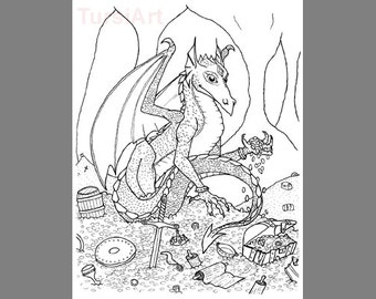 gold and jewels coloring pages - photo#19