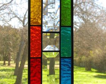 Rainbows and Bevels Geometric Suncatcher