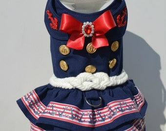 Sailor Girl Dog Dress