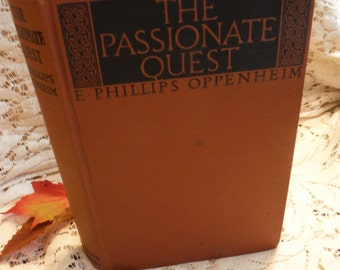 Art Deco Book The Passionate Quest E. Phillips Oppenheim 1924 Antique Book