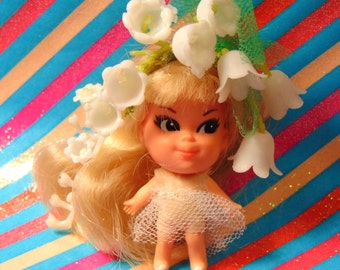 """Vintage Retro Liddle Kiddles """"Kologne Kiddle LILY of the Valley """"  Original outfit - 49 Years Old 1967"""