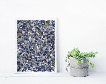 Abstract Art based on Math, inspired by Jackson Pollock. Mystic Rose, fine art Giclee print. Limited Edition splatter_purpleMoss