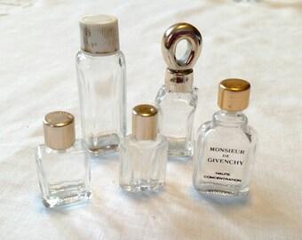 Lot of 5 Vintage Miniature Perfume Bottles