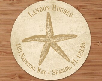 Seaside Collection (Starfish) Custom Address Labels or Stickers