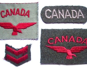 CANADA RCAF BADGES Lot  Canadian Air Force Flight Insignia Badges Wing Cloth Embroidered Patchs