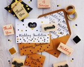 Wedding Invitation Rubber Stamps - DIY Wedding - Handmade Wedding Invitation Stamp - Save The Date - Order of Service - Wedding Stationery