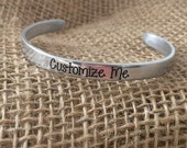 Customized Engraved Aluminum Bangle, Custom Bridesmaid Bangle, Bridesmaid Jewelry, Custom Gift, Aluminum Jewelry, Custom Bangle