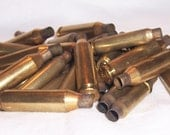 Mixed Caliber 37 Fired Brass Rifle Bullet Casings for Jewelry or Art Assemblages