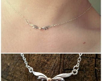Sterling Silver and Brass Golden Snitch Necklace