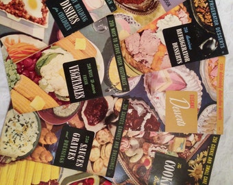 vintage Culinary Arts Institute Cook Books. Lot of 9 mid-century recipe cookbooks. Baking. Cooking. Desserts. Meals.