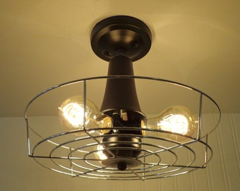 Vintage Electric INDUSTRIAL Light Cage