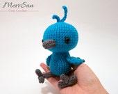 MADE to ORDER - Amigurumi Woodland Critter Bluebird - crochet animal plush, amigurumi bird toy, bluebird plush, cute crochet blue bird doll