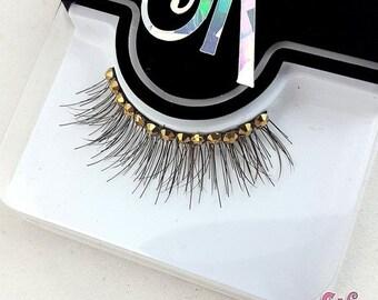 CLEARANCE Whisper Fringe 2-Color Rhinestone False Eyelashes - SugarKitty Couture