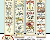40% OFF Luke 1-4 Bible Bookmarks Bible Journaling Tags INSTANT DOWNLOAD Scripture Digital Printable Download Christian Religious