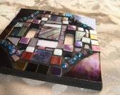 MOSAIC LIGHT SWITCH Plate Cover - Double, Aqua, Purple, Lavender