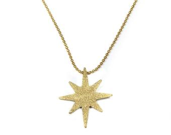 North Star Necklace   Polaris Star Necklace   Bohemismo Handmade Brass Jewelry
