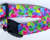 Yummy Packed Jelly Bean Dog Collar Pink Blue Green Purple Beans