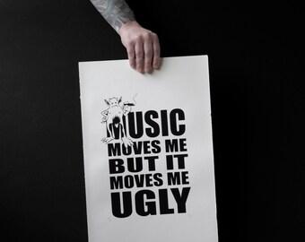 Music moves me screenprint