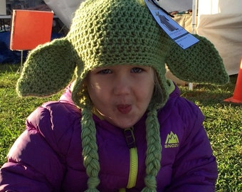 Yoda Earflap Hat - 5 To 12 Years - Costume - Star Wars Inspired - Made To Order!