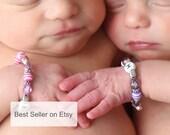 Twin ID Bracelets Twin Bracelets Newborn ID Bracelets Twin Girls Bracelets Set of Two B074