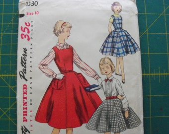 Simplicity 1330 Girl's Jumper Blouse and Skirt Size 10 sewing pattern