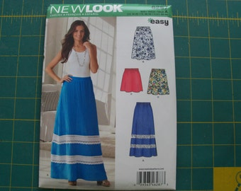 New Look 6287 Misses Skirts Sizes 10-22 NEW Uncut Pattern