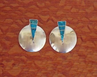 Silver Earrings Tracey Knifewing Navajo