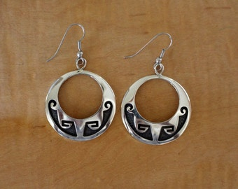 Hopi Silver Earrings Charles Supplee