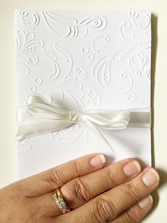 Embossed Wedding Card. Elegant Wedding Card. Embossed Engagement ...
