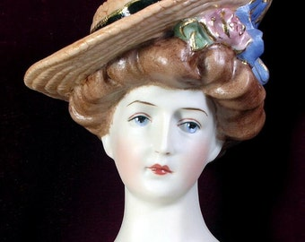 Parian Lady porcelain doll Hat Gibson by Emily Hart Grandmaster