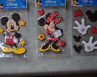 Disney's Mickey, Minnie and Mickey Hands Stickers 5.5 inches