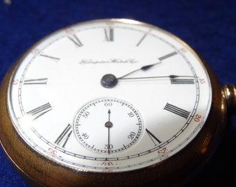 Hampden 1890 Hunting Movement 18 Size Pocket Watch