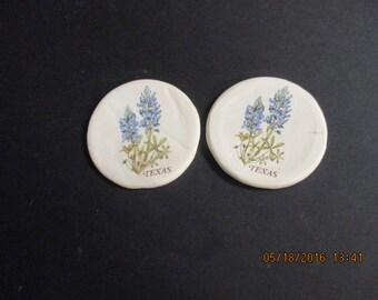 Set of 2 Stoneware Coasters