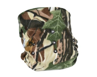 Cloth Diaper Cover OS, Fleece - Camo, Camouflage, Hunter
