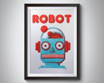 ROBOT Poster Screen Print