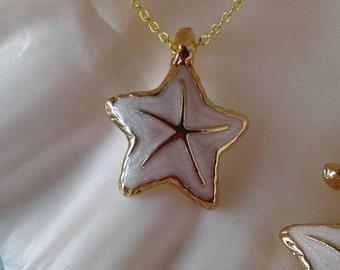 Starfish Necklace,White