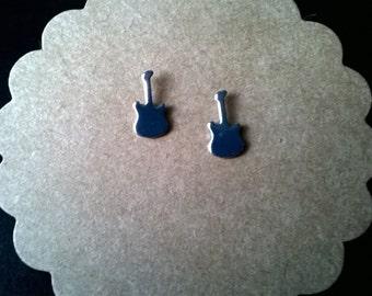 Guitar Stud Earrings,Rock and Roll Earrings,Country Music Earrings