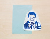 Newman - Seinfeld - Greeting Card, Blank Card, Holiday Card, Blank Greeting Card, Handmade Card, Shape Card