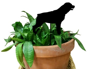 Rottweiler Ornament or Plant Stake / Dog / Christmas / Metal / Holiday / Memorial